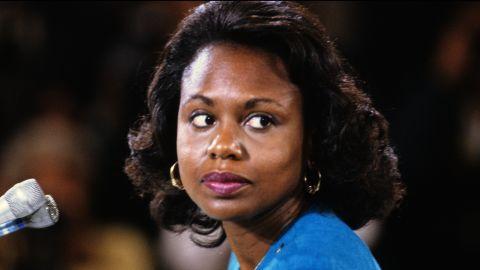 Anita F. Hill testifies in 1991.