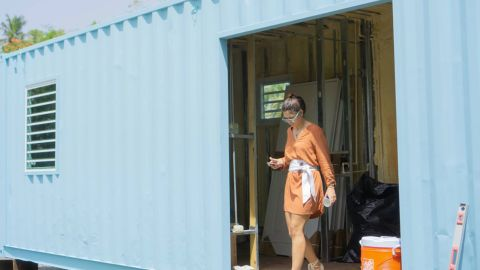 HiveCube co-founder and architect, Carla Gautier, was inspired by European prefab shipping container companies.