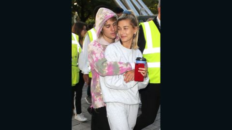 Justin Bieber and Hailey Baldwin  at the London Eye on September 18, 2018.