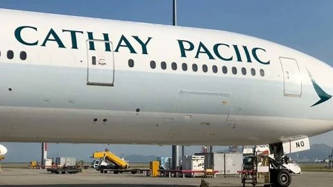 Cathay Pacific livery error