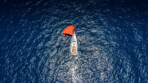 """The <a href=""""http://www.yachtracingimage.com/"""" target=""""_blank"""" target=""""_blank"""">Mirabaud Yacht Racing Image</a> contest is judged by an international jury and open to a <a href=""""http://www.yachtracingimage.com/gallery.html"""" target=""""_blank"""" target=""""_blank"""">public vote</a>. Here are some of our other favorite shots ... <br /><br />Chinese photographer, Bo Wang used a drone for this beautiful shot during the Sinan Cup Regatta. """"Yacht racing are not only fierce confrontation, but also quiet and beautiful,"""" he says."""