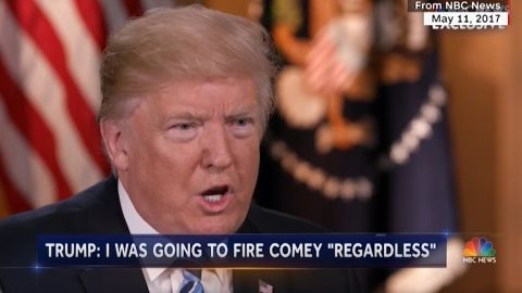 Trump interview with NBC's Lester Holt. May 11 2017