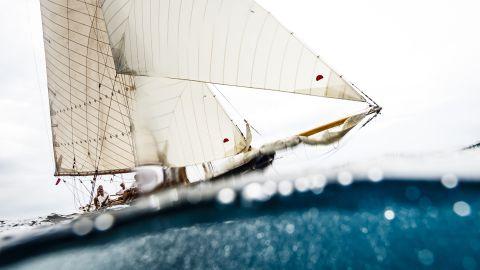 Bernardí Bibiloni captured Marigan 1898, a traditional sailboat, during the XXIV Regatta Illes Balears Clàssics off the coast of Mallorca, Spain.