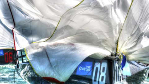 Ingrid Abery captures the texture of a billowing sail in this arty shot taken during Cowes Week in the UK.