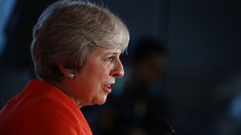 SALZBURG, AUSTRIA - SEPTEMBER 20:  British Prime Minister Theresa May speaks to the media at the conclusion of the summit of leaders of the European Union on September 20, 2018 in Salzburg, Austria. Earlier in the day European Council President Donald Tusk expressed doubt over the United Kingdom's proposal regarding its Brexit negotiations.  (Photo by Sean Gallup/Getty Images)