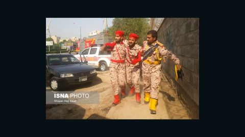Several were killed and injured when an unknown gunman opened fire on a military parade in the southern Iranian city of Ahvaz, Irans state television Press TV reported Saturday.
