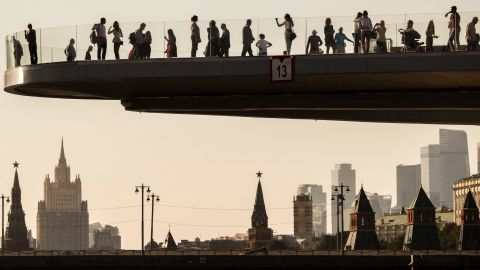 """<strong>Moscow: </strong>Zaryadye Park opened near the Kremlin in September 2017. One of its highlights is the 70-meter """"floating bridge"""" designed by Diller Scofidio + Renfro, the architectural studio behind New York's High Line Park. <br />"""