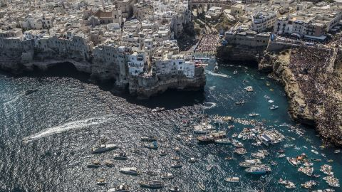 <strong>Polignano a Mare, Italy: </strong>The town of Polignano a Mare, in southern Italy on the Adriatic coast, played host in September to the Red Bull Cliff Diving World Series.<br />