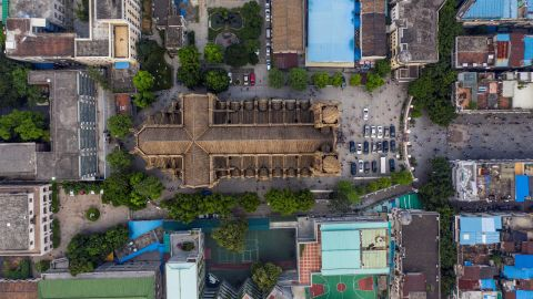 """<strong>Guangzhou, China: </strong>Sometimes known as the """"Notre Dame of East Asia,"""" Guangzhou's Sacred Heart Cathedral is a Gothic Revival building completed in the 19th century."""