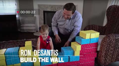 In his bid for governor of Florida, Ron DeSantis has emphasized his ties with President Trump -- and his desire to share the message with his children.