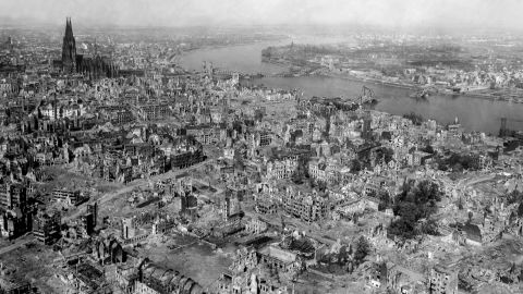 Massive air raids during WWII not only impacted the ground, but reached space as well.