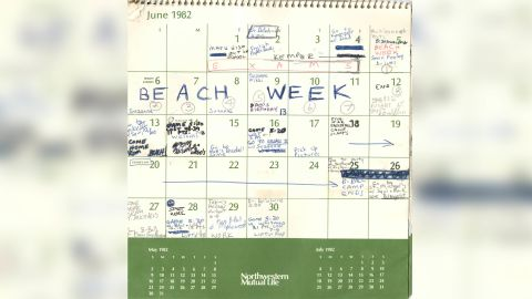 CNN has obtained the 1982 calendar entries submitted to the Senate Judiciary Committee by Supreme Court nominee Brett Kavanaugh. It was first reported by USA Today.