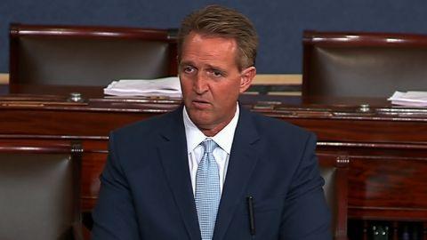 Senator Flake speaking at 1:16p