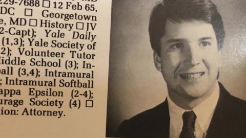 Brett Kavanaugh Yale University yearbook photo.