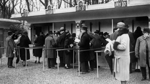 Longchamp Racecourse first opened in 1857 -- Napoleon III and Empress Eugénie attended.