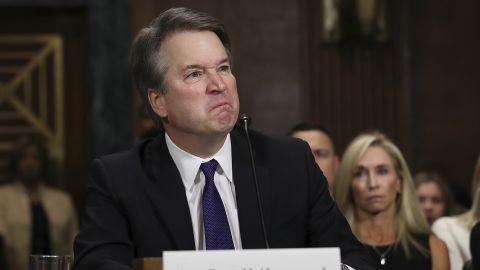 Supreme Court nominee Judge Brett Kavanaugh, testifies before the Senate Judiciary Committee, Thursday, Sept. 27, 2018 on Capitol Hill in Washington.  (Win McNamee/Pool Image via AP)