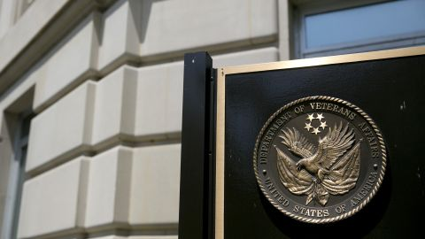 The U.S. Department of Veterans Affairs (VA) seal is stands at the headquarters in Washington, D.C., U.S., on Friday, May 10, 2013.
