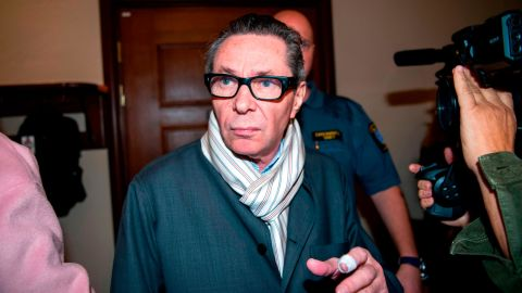 Jean-Claude Arnault, whose wife is a member of the Swedish Academy, arrives at the district court in Stockholm on September 19, where he faced allegations of rape and sexual assault.