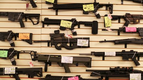 DELRAY BEACH, FL - JANUARY 05: Weapons are seen on display at the K&W Gunworks store on the day that U.S. President Barack Obama in Washington, DC announced his executive action on guns on January 5, 2016 in Delray Beach, Florida.  President Obama announced several measures that he says are intended to advance his gun safety agenda.  (Photo by Joe Raedle/Getty Images)