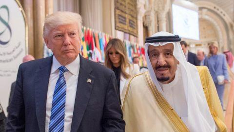 US President Donald Trump and Saudi Arabia's King Salman bin Abdulaziz Al Saud attend the Arabic Islamic American Summit at King Abdul Aziz International Conference Center in Riyadh, Saudi Arabia on May 21, 2017.