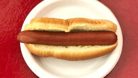 Costco's signature hot dog.