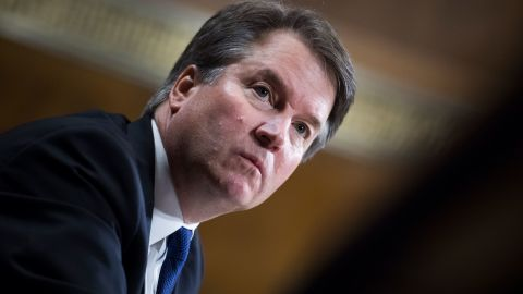UNITED STATES - SEPTEMBER 27: Judge Brett Kavanaugh testifies during the Senate Judiciary Committee hearing on his nomination be an associate justice of the Supreme Court of the United States, focusing on allegations of sexual assault by Kavanaugh against Christine Blasey Ford in the early 1980s. (Photo By Tom Williams/Pool/Getty Images)