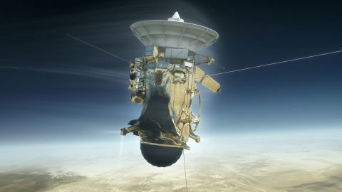 """On September 15, 2017, the 20-year Cassini mission ended in a """"death dive"""" into Saturn's upper atmosphere, collecting data until the spacecraft broke apart and became part of the planet it set out to explore."""
