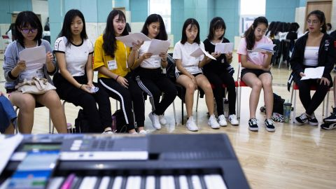 Singing class at Global K academy.