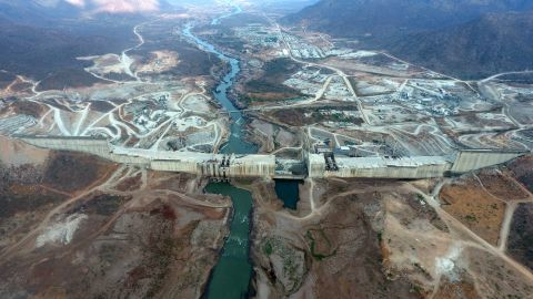 The Grand Ethiopian Renaissance Dam under construction in 2017 (courtesy of Salini Impregilo).