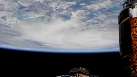 The International Space Station shared views of Hurricane Matthew as it approached the Florida Gulf Coast.