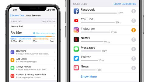 Apple's Screen Time dashboard in iOS 12