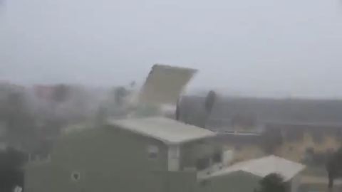Hurricane Michael's powerful winds and devastating storm surge wreaked havoc in Panama City Beach, Florida.