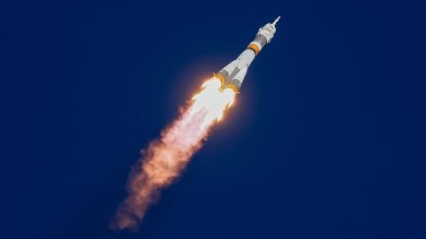 The Soyuz MS-10 spacecraft carrying the crew of astronaut Nick Hague of the U.S. and cosmonaut Alexey Ovchinin of Russia blasts off to the International Space Station (ISS) from the launchpad at the Baikonur Cosmodrome, Kazakhstan October 11, 2018. REUTERS/Shamil Zhumatov     TPX IMAGES OF THE DAY