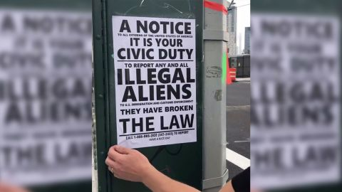 This anit-immigrant flyer was posted in Queens, a diverse borough in New York City.