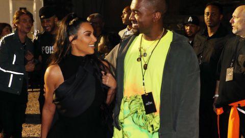 Kim Kardashian West and husband Kanye West got affectionate for a photo.