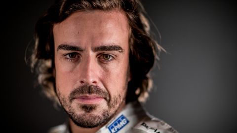 MONTMELO, SPAIN - MARCH 02:  (EDITORS NOTE: Image has been created using digital filters) Fernando Alonso of Spain and McLaren Honda poses for a portrait during day two of F1 winter testing at Circuit de Catalunya on March 2, 2016 in Montmelo, Spain.  (Photo by Mark Thompson/Getty Images)