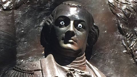 The Nathanael Greene monument in Savannah, Georgia, gets an eye-opening addition.