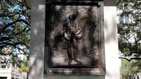 The Nathanael Greene monument in Savannah, Georgia.