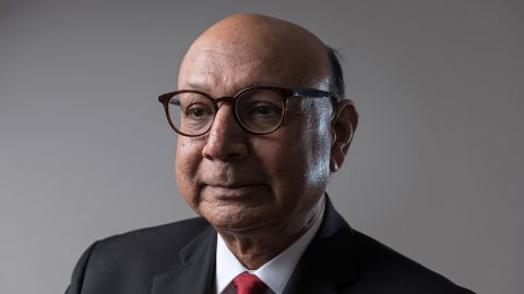 ALEXANDRIA, VA - MARCH 8: (FOR MAGAZINE) Khizr Khan, a lawyer and Gold Star father who spoke at the 2016 Democratic National Convention, stands for a Just Asking portrait in Alexandria, Va. on March 8, 2018. (Photo by Joshua Yospyn/For The Washington Post via Getty Images)