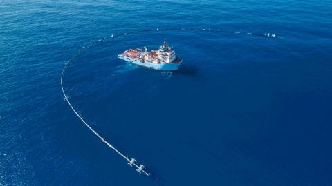 The Ocean Cleanup hopes to collect the plastic in the world's oceans and is starting with the Great Pacific Garbage Patch.