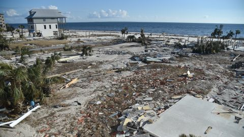 Many of the coastal houses in Mexico Beach, Florida, have been obliterated.