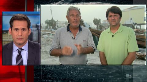 Lebron Lackey and Russell King, the owners of one of the few surviving houses in Mexico Beach, Florida, spoke to CNN's John Berman on Tuesday morning.