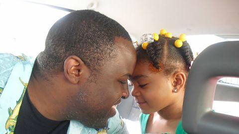 Chinedu Okobi with his daughter.