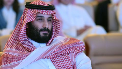 """Saudi Crown Prince Mohammed bin Salman attends the Future Investment Initiative (FII) conference in Riyadh, on October 24, 2017. The Crown Prince pledged a """"moderate, open"""" Saudi Arabia, breaking with ultra-conservative clerics in favour of an image catering to foreign investors and Saudi youth.  """"We are returning to what we were before -- a country of moderate Islam that is open to all religions and to the world,"""" he said at the economic forum in Riyadh."""