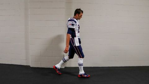 Tom Brady of the New England Patriots walks towards the locker room before a game against the Pittsburgh Steelers at Heinz Field on October 23, 2016 in Pittsburgh, Pennsylvania.