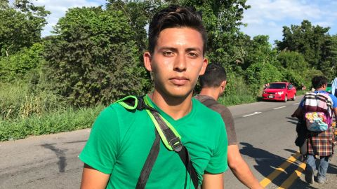 A 20-year-old named William said he left Honduras looking for work.