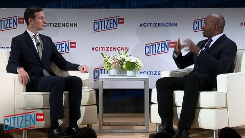 Jared Kushner, senior adviser to President Donald Trump, discusses US Mideast policy, prison reform, and what it's like working for President Donald Trump with CNN's Van Jones at the CITIZEN by CNN forum in New York.
