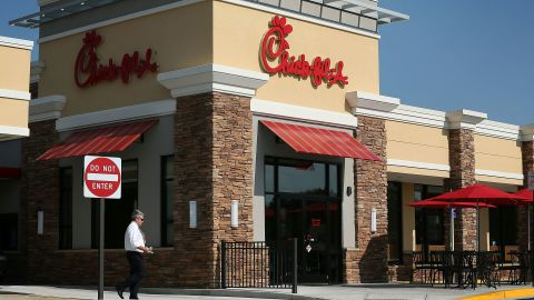SPRINGFIELD, VA - JULY 26: A man passes by a Chick-fil-A July 26, 2012 in Springfield, Virginia.