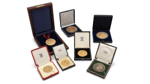 A collection of Hawking's medals  and awards fetched $387,460 at auction on November 8.