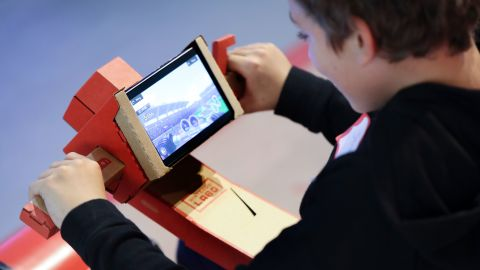 Nintendo Labo cardboard kits are used with Switch video games.